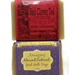 Almond and Red Clover Tea Goat Milk Soaps, oatmeal soap, olive oil soap, favorite goat milk soap, exfoliate, smooth skin, sensitive skin