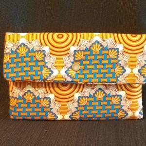 Clutch Wallet - Ornate Orange