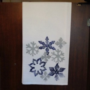 Snowflake kitchen towel, Christmas hand towel, hostess gifts, best selling items, flour sack dish towel, Mother's Day from son, mom gift