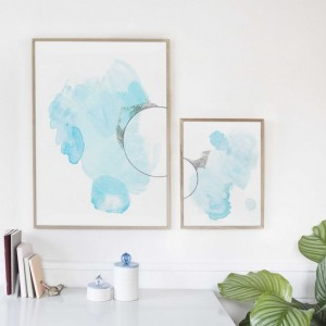 Large Art Print Set. Pair of Paintings. Watercolor Print Set. Colorful Abstract Set. Large Art Print Set. Colorful Home Decor Art Print