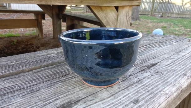 Metallic Turquoise Bowl