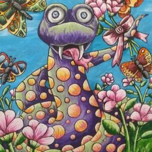 Cartoon Snake Painting 11x14
