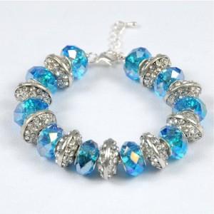 Silver Bling, Aqua, Blue, Silver. Aqua Bling Bracelet
