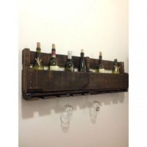 "Large Rustic Handmade Wine Rack (40""L by 12.5""H)"