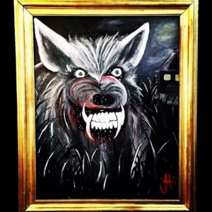 """Canis Malignas"" Original Oil Painting"