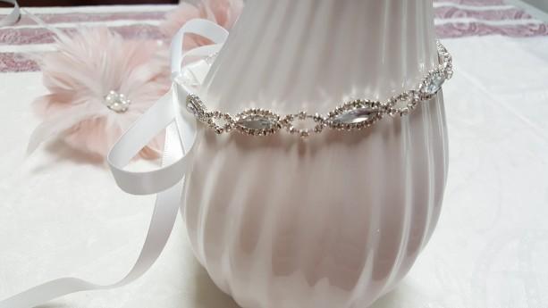 Crystal Rhinestone Headpiece | Bridal Headpiece | New Born baby photo prop