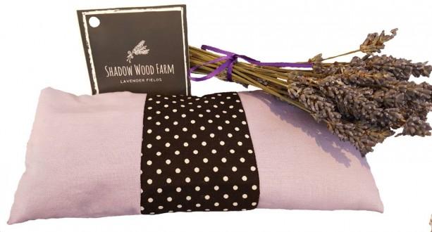 Lavender Eye Pillow- Lavender Black Dots