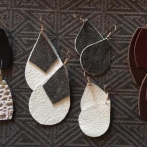 Handmade Leather Earring