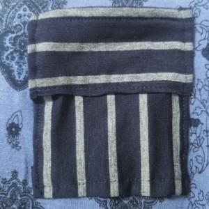 Paisley Striped Pocket Tee