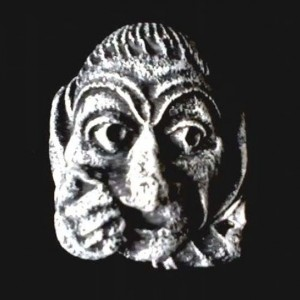 Oxford Chapel Gargoyles Set of Four Wall Hanging Pagan Jester Whimsical Funny Open Mouth Man Nose Face Grotesque Celtic Home Garden Decor