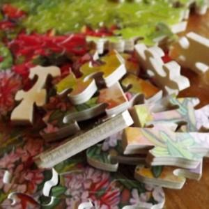 """Hand Cut Wooden Jigsaw Puzzle """" Butterflies"""""""