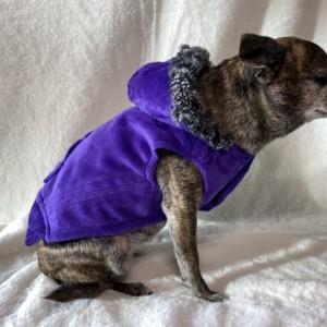"S Purple hoodie 17-18"" girth"