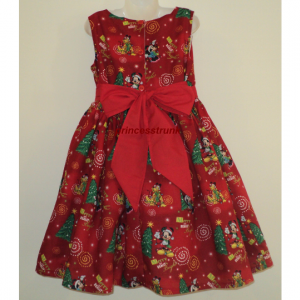 NEW Handmade Disney Winnie The Pooh/Tiger Red Christmas Dress Custom Size 12M-14Yrs