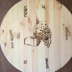 Round Natural Pine Cutting Board