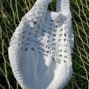 Large white cotton market/beach bag