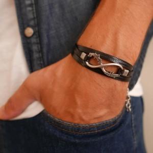 Men's Infinity Bracelet - Men's Bracelet - Men's Jewelry - Men's Gift - Boyfriend Gift - Husband Gift - Friendship Jewelry - Present For Men