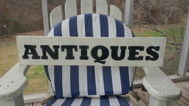 Antiques wood sign, vintatge hand painted wood sign art