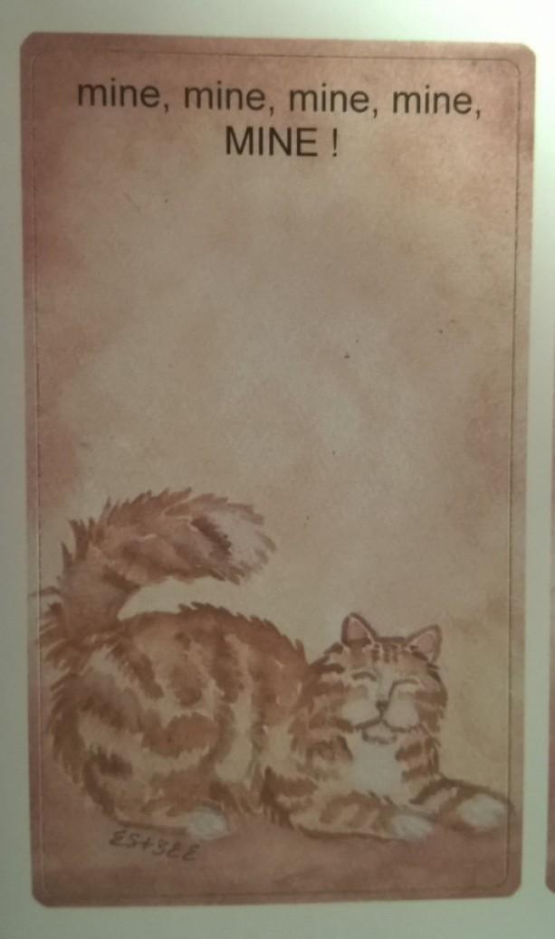 Cat Art Bookplates Set of 5 self stick bookplates -ORANGE PERSIAN CAT-