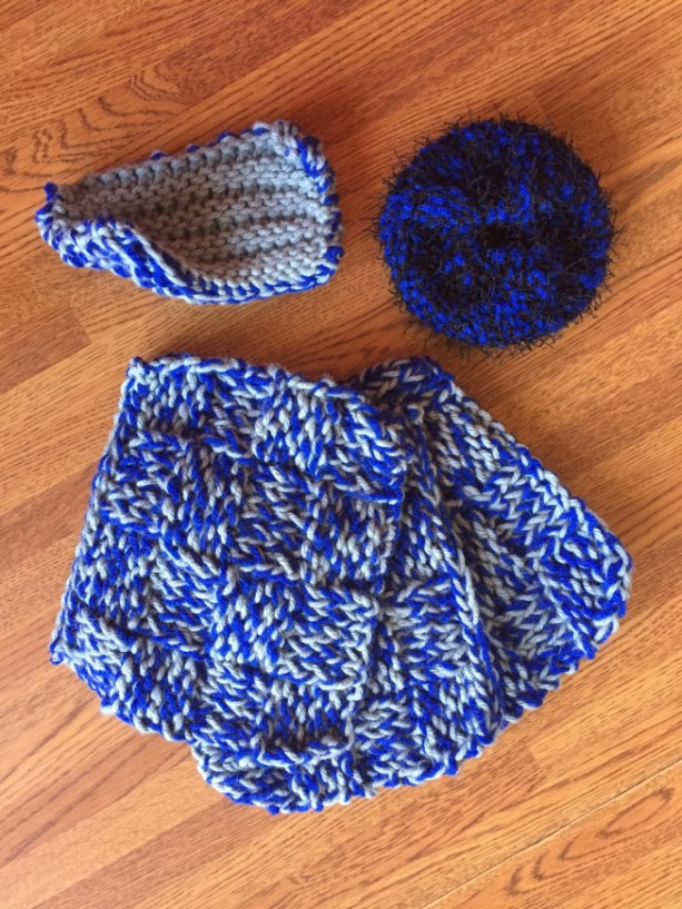 Colorful Kitchen Washcloth Set (blue wave) by Give A Yarn Crafts