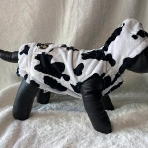 "Cow print hoodie XXS 13-14"" girth"