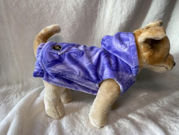 """XS Purple Heart  plush hoodie 15-16"""" girth"""