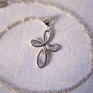 Infinity Cross Sterling Silver Religious Communion Confirmation Bride