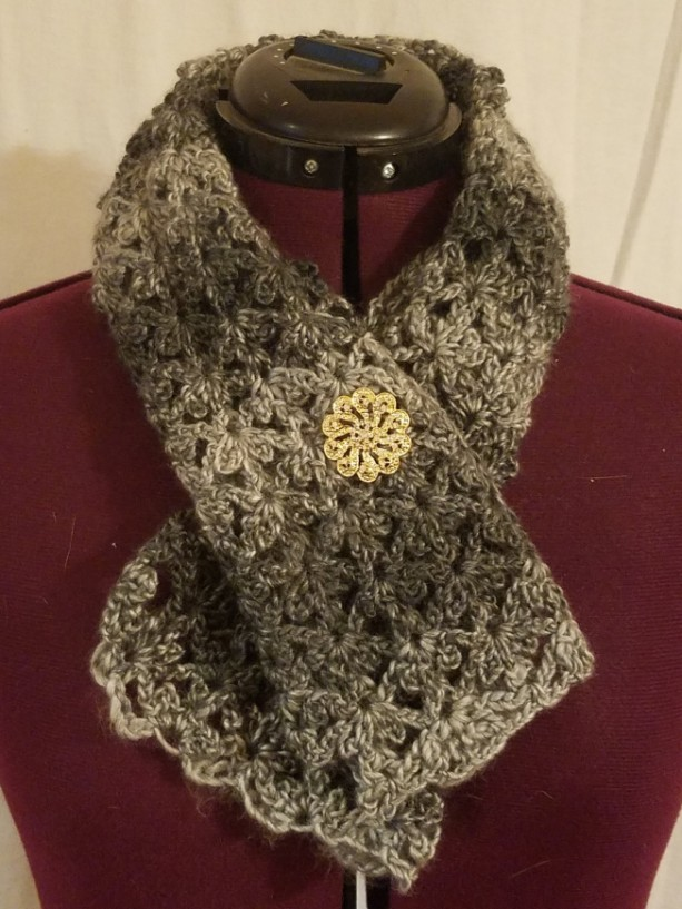 Crocheted Petite Woman's Scarf