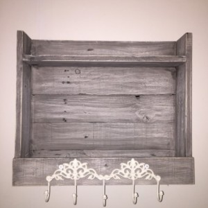 Weathered Grey Shelf