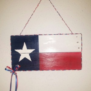 Wooden Texas Flag Wall decoration
