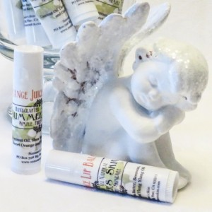 Orange Juice Lipbalm, Summer's Skin,  Handcrafted, All Natural, 3 each