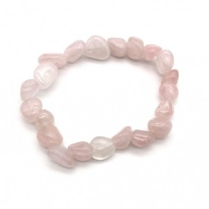 RAW ROSE QUARTZ TUMBLED CRYSTAL BRACELET