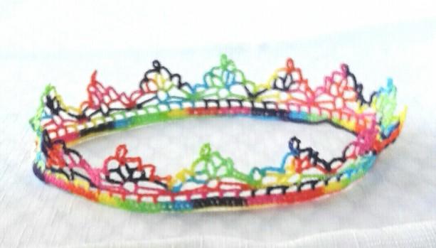 "NeckLACE in Rainbow Splash (17"")"