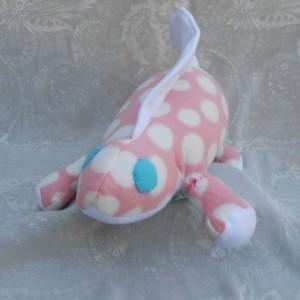 Peachy Pink Poke a Dot Dimetrodon Dinosaur