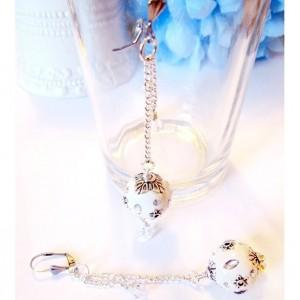 Retro Style Long Ball Earrings, Embellished Earrings, Stainless Steel Earrings, Long Dangle Earrings, Handmade Earrings, Mothers Day Gift