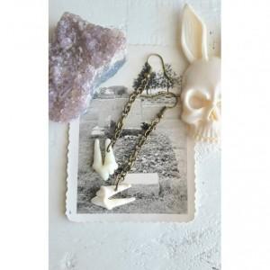 Wunderland jewelry // Coyote teeth earrings// one of a kind