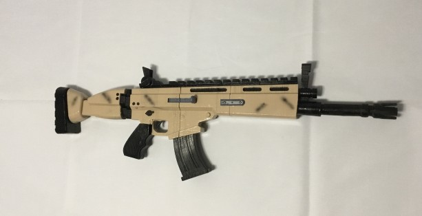 Fortnite Themed Legenday SCAR Full Size Cosplay Prop