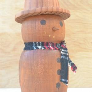 Hand Turned Snowman