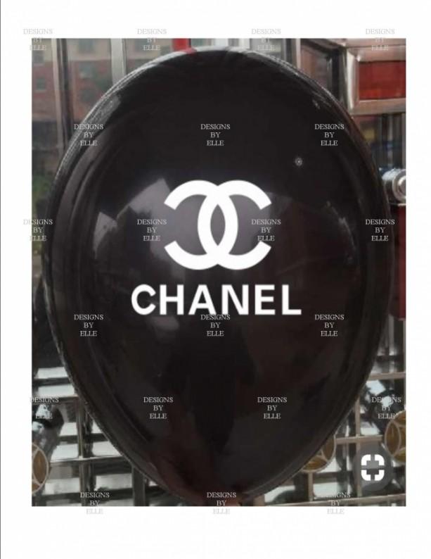 Chanel Black Balloons