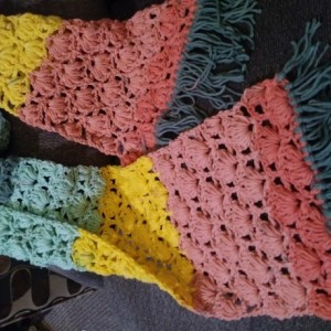 Whimsy-stitch Crochet Scarf