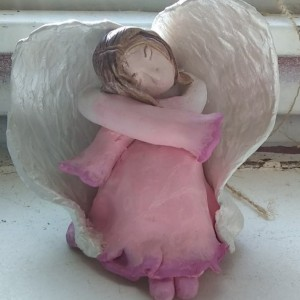 Serene Hand Scultped Angel