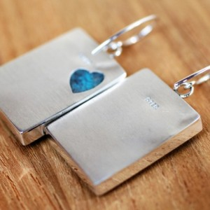 DESIGNER QUALITY! Genuine African Blue Azurite Sterling Silver EARRINGS