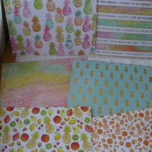 Pineapple Envelopes,  Square Envelopes, Tropical Envelopes, Plastic Pineapple Envelope, Plastic Envelopes
