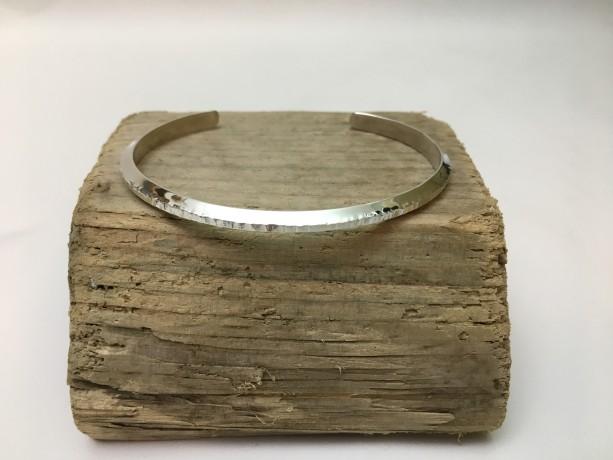 Silver Triangle Bracelet—Size 6.75