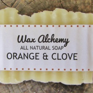 Orange Clove All Natural Soap / Two 5 oz Bars