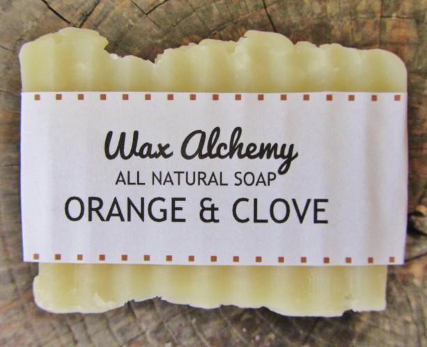 Orange Clove All Natural Soap / Two 5 oz Bars