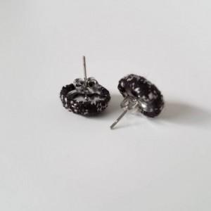 Wrap Scrap Jewelry - Earrings - Oscha - Starry Night Raven - Wrap Scrap - Babywearing - Monochrome - Stars