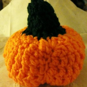 "Stuffed Pumpkin - approx 5"" x 5"""