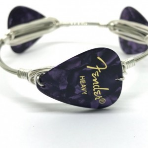 Guitar pick bracelet, Handmade bangles, Birthday gift, Made in America, Gifts for her