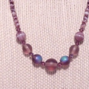 Frosty Purple Elegance Necklace