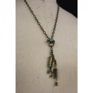 Brass Bullet Casing Necklace